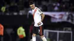Matías Suárez erró el cuarto penalti de River en 2019.