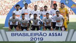 Corinthians en un partido de esta temporada.