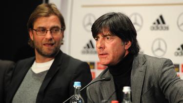 Jürgen Klopp (l.) soll angeblich künftig Bundestrainer werden
