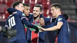 Die PSG-Stars feiern nach dem zweiten Tor