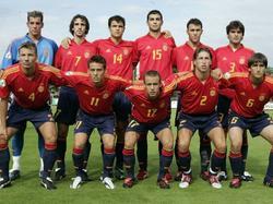 Spaniens U19 bei der EM 2004 in der Schweiz
