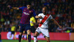 Luis Suárez brilló con un doblete en Vallecas. (Foto: Getty)