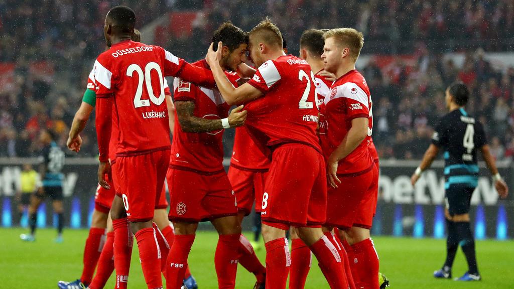 Die Düsseldorfer feierten den ersten Sieg seit dem 3. Spieltag