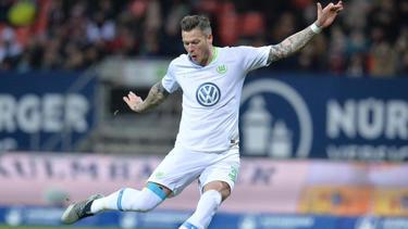 Daniel Ginczek zeigt sich auch im Testspiel des VfL Wolfsburg treffsicher