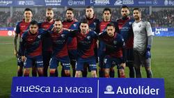 Once del Huesca que se enfrentó al Atlético en El Alcoraz. (Foto: Getty)
