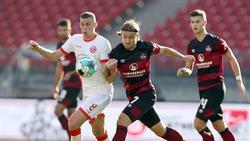 Fortuna Düsseldorf holt einen Punkt beim 1. FC Nürnberg