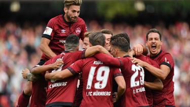 Die Nürnberger bejubelten einen Dreier gegen Hannover 96