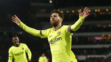 Messi celebra el primero gol del encuentro en los Países Bajos. (Foto: Getty)