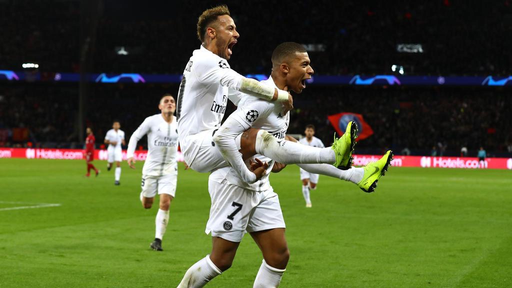 PSG feierte einen Sieg gegen den FC Liverpool