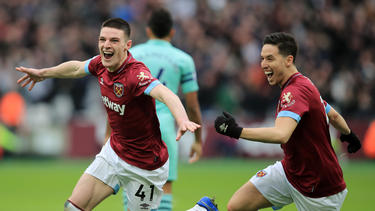 El West Ham celebra su triunfo ante el Arsenal. (Foto: Getty)