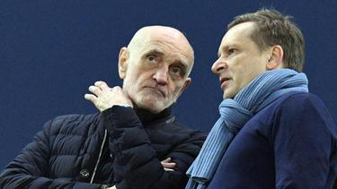 96-Boss Martin Kind (l.) und Manager Horst Heldt