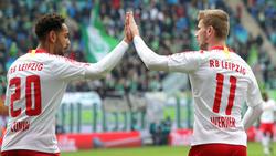 Timo Werner erzielte gegen den VfL Wolfsburg den zweiten Treffer für RB