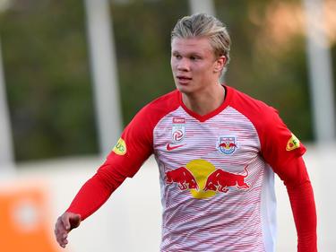 Salzburg-Talent Erling Håland hatte am Donnerstag bei Norwegens U20-Team gut lachen