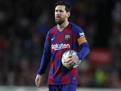 Messi en un encuentro disputado en el Camp Nou.