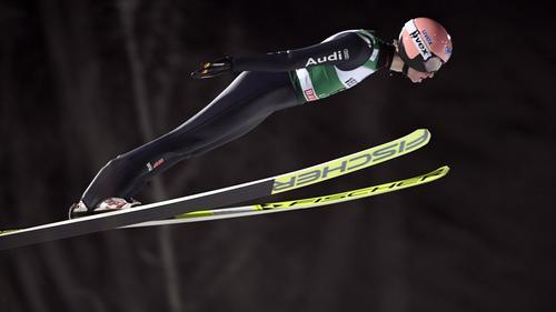 Karl Geiger sicherte sich einen guten zweiten Platz