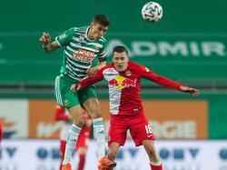 Rapid-Kapitän Dejan Ljubičić (l.) wird in diesem Kalenderjahr kein Pflichtspiel mehr bestreiten