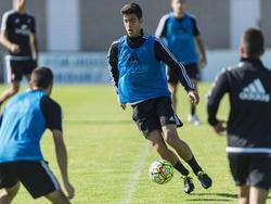 Mikel Merino en un entrenamiento con Osasuna. (Foto: Imago)