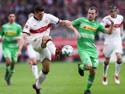 Tony Jantschke (r.) hatte mit der Borussia in Stuttgart das Nachsehen