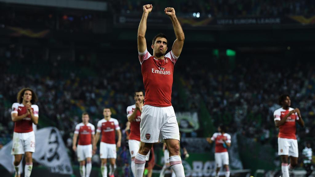 Ex-BVB-Verteidiger Sokratis bejubelt den Arsenal-Sieg
