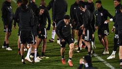 Los jugadores del River Plate entrenándose en Madrid. (Foto: Getty)