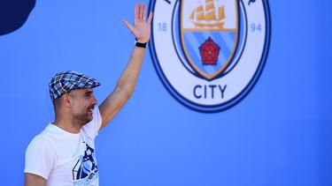 Pep Guardiola gewann mit Manchester City drei Titel in dieser Saison