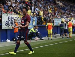 Kike García celebra su tanto en el Estadio de la Cerámica. (Foto: Imago)