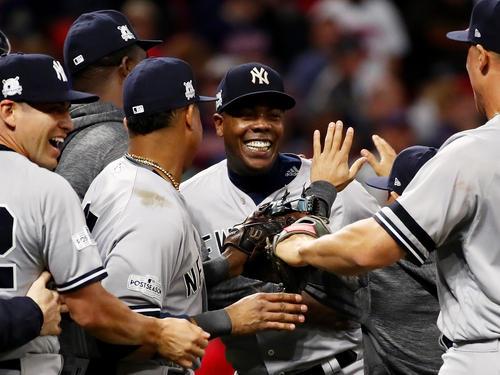 Die New York Yankees freuen sich über den Einzug ins Halbfinale