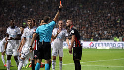 Ante Rebic sah im Trikot von Eintracht Frankfurt die Rote Karte