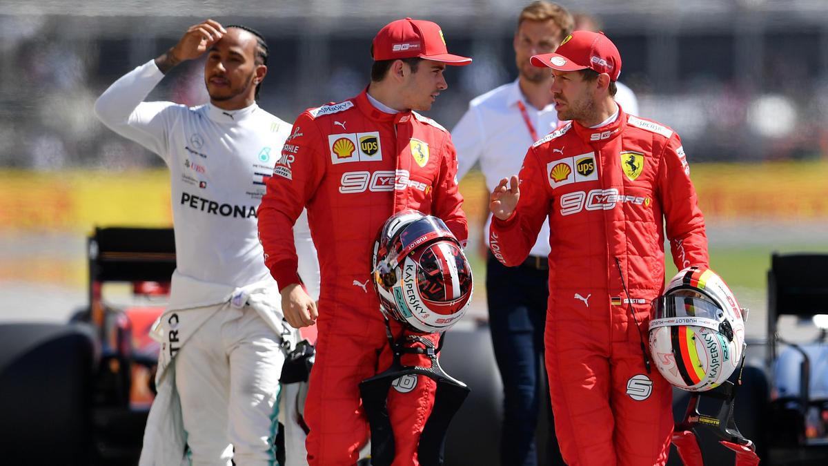 Die Stimmung zwischen Sebastian Vettel und Charles Leclerc war schon besser