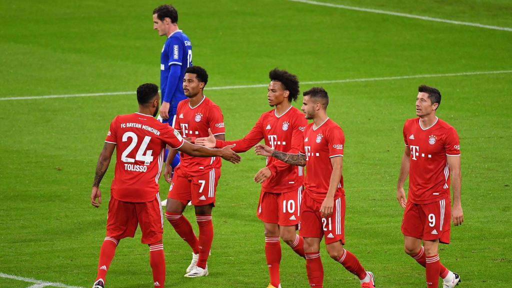 Ganze acht Mal hatten die Bayern gegen Schalke Grund zu Jubeln