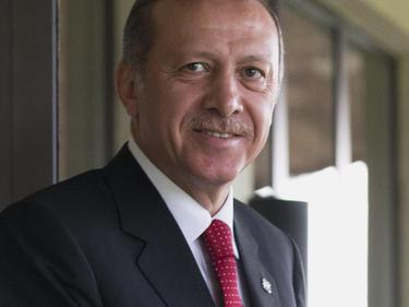 Erdogan recibió este domingo a los capitanes de todos los equipos de la liga turca. (Foto: Getty)