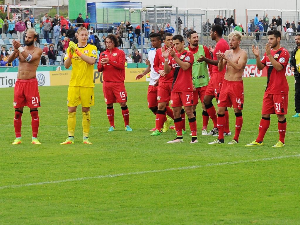 Bayer Leverkusen setzte sich knapp gegen den Oberligisten SC Hauenstein durch