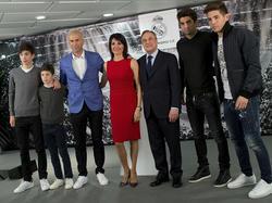Familie Zidane bei der Vaters Amtsantritt