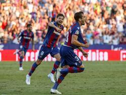 Toño García marcó el gol de la victoria del Levante. (Foto: Imago)