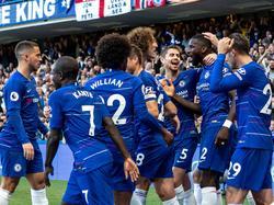 Los jugadores del Chelsea celebran el gol del alemán Rüdiger. (Foto: Getty)