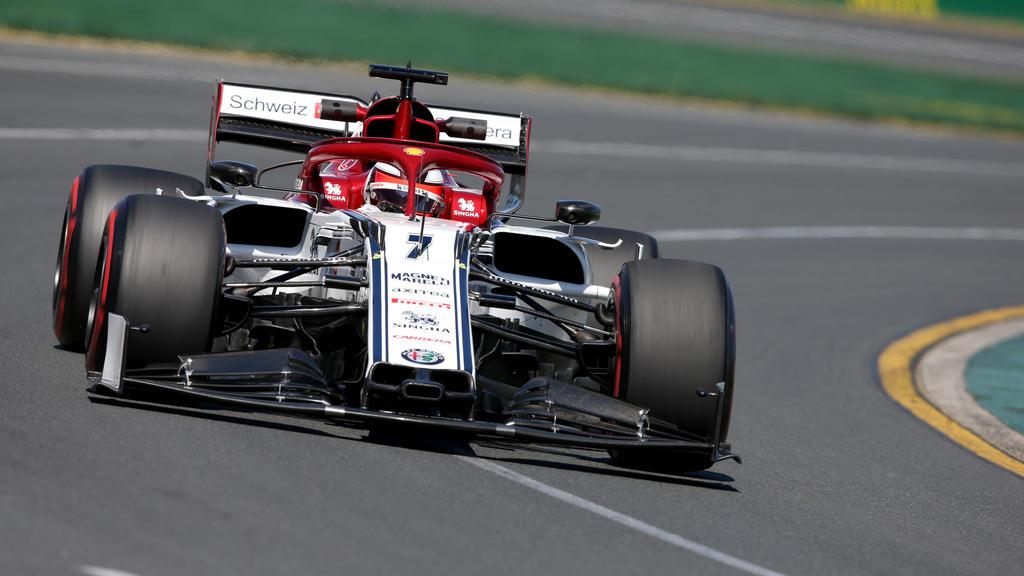 Kimi Räikkönen fuhr am Freitag in Melbourne auf den starken sechsten Rang