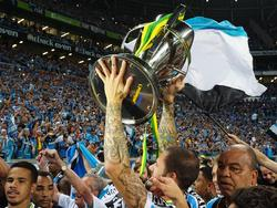 Die Spieler von Grêmio Porto Alegre feierten ausgiebig ihren Triumph