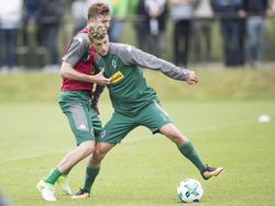 Cuisance (r.) traf beim 2:2 im Test gegen Eupen für Mönchengladbach