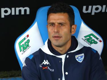 Fabio Grosso en el banquillo del club lombardo.