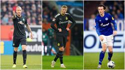 Feierten ihr Debüt: Kevin Vogt bei Werder Bremen, Erling Haaland beim BVB und Michael Gregoritsch beim FC Schalke 04