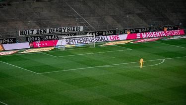 Das Bundesligaspiel von Borussia Mönchengladbach gegen den 1. FC Köln wurde ohne Zuschauer ausgetragen