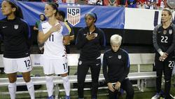 Megan Rapinoe protestiert auch weiterhin gegen Rassismus