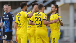 Hakimi, Sancho und Hazard trafen für den BVB, Guerreiro jubelt mit