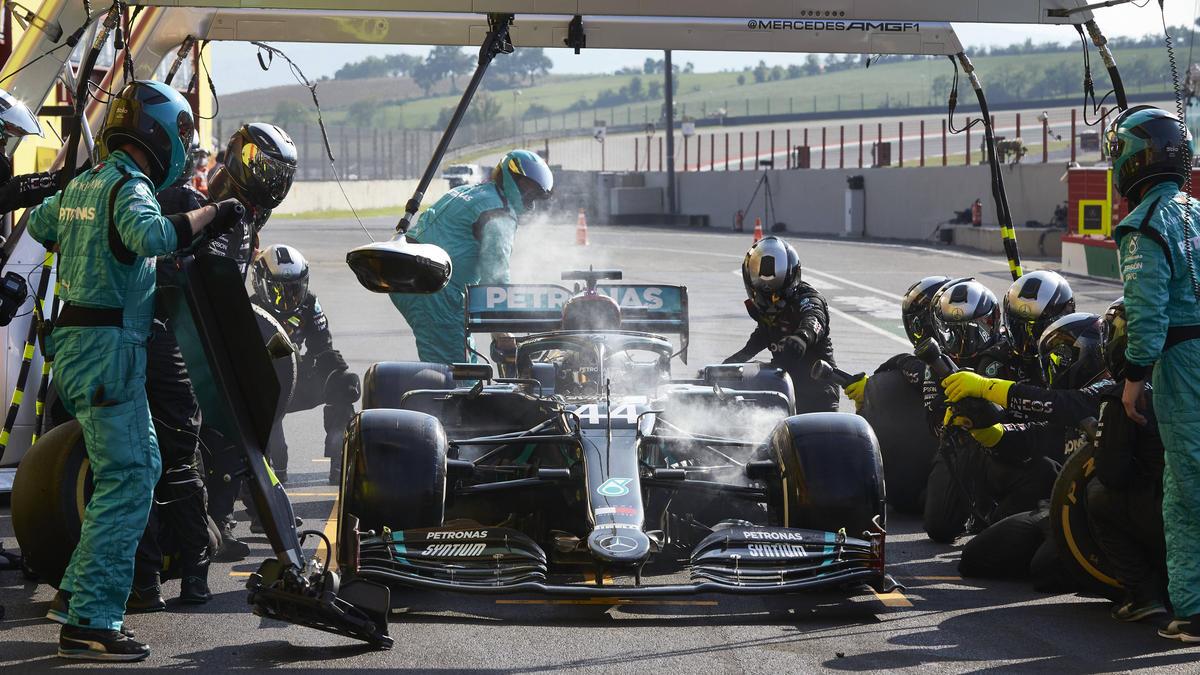 Lewis Hamiltons Bremsen rauchten in Mugello