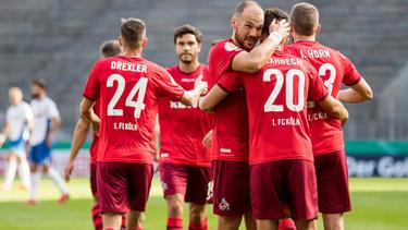 Der 1. FC Köln steht in der nächsten Runde