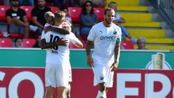 SV Sandhausen im DFB-Pokal mit Mühe weiter