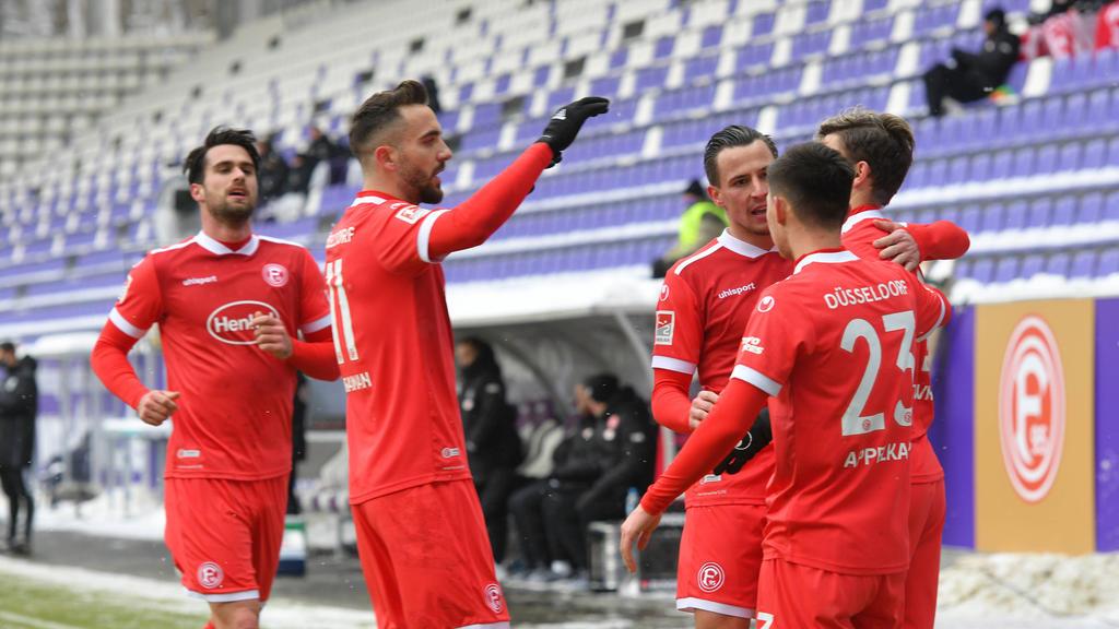 Fortuna Düsseldorf setzte in Aue seinen Siegeszug fort
