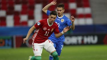 Alexandru Matan (links) erzielte einen Treffer