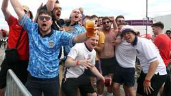 Nach dem England-Sieg gegen Kroatien zum EM-Auftakt floss das Bier in Strömen