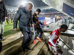 Zweimal musste die Partie von Feyenoord gegen die Roma unterbrochen werden
